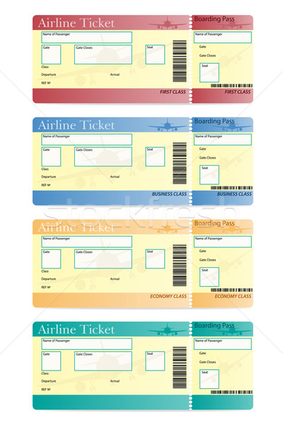 airline ticket vector illustration Stock photo © konturvid