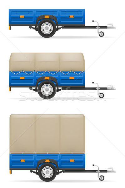 set icons car trailer for the transportation of goods vector ill Stock photo © konturvid