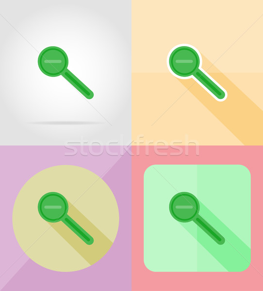 magnifier increase and decrease for design flat icons vector ill Stock photo © konturvid