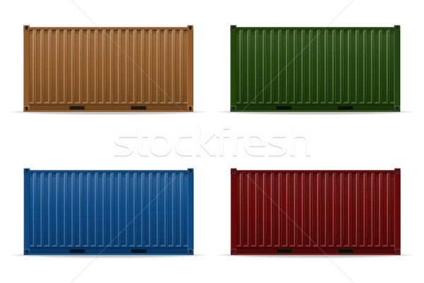 cargo container vector illustration Stock photo © konturvid