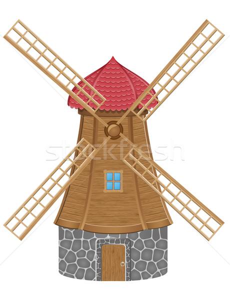 windmill vector illustration Stock photo © konturvid