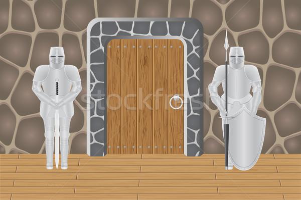 Zamek drzwi odizolowany tle mail maska Zdjęcia stock © konturvid
