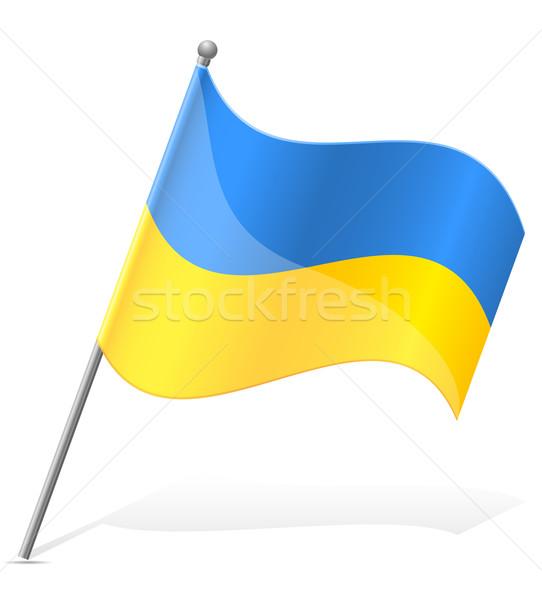 флаг Украина изолированный белый Мир Живопись Сток-фото © konturvid