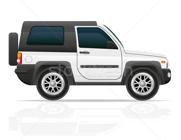 car jeep off road suv vector illustration Stock photo © konturvid