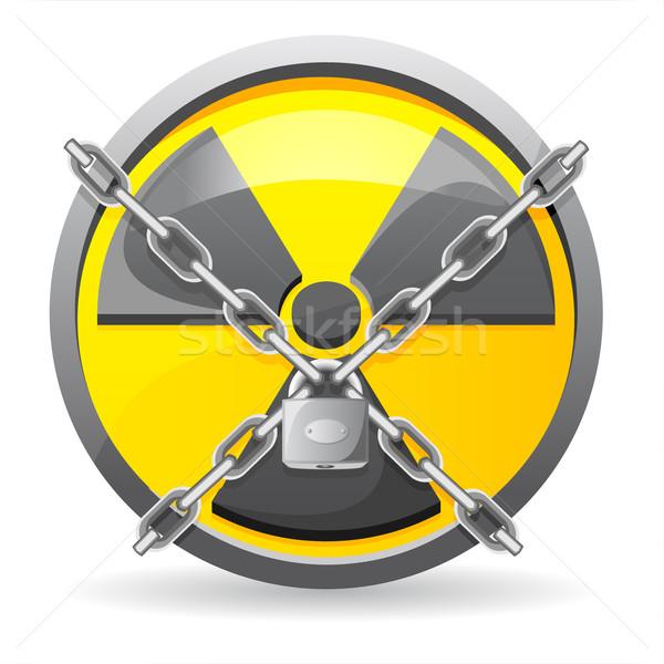 ロック チェーン にログイン 放射線 孤立した 白 ストックフォト © konturvid