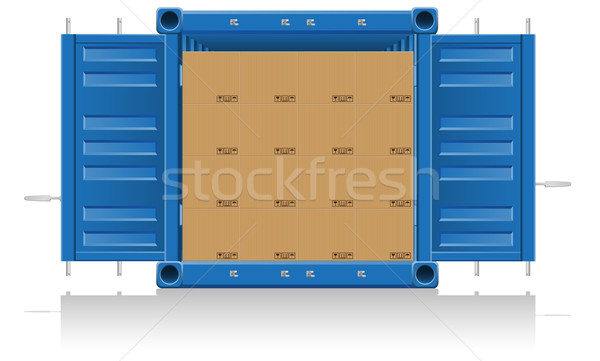 concept cargo delivery vector illustration Stock photo © konturvid