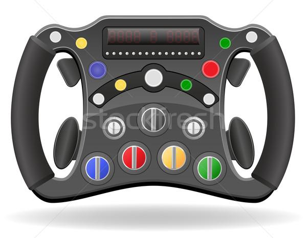 Stuur racing auto eps 10 geïsoleerd Stockfoto © konturvid