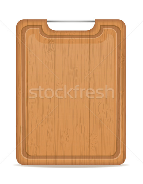 wooden cutting board with metal handle vector illustration Stock photo © konturvid