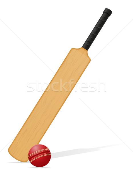 Cricket bats clipart