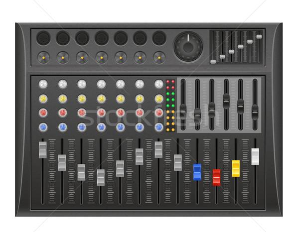 panel console sound mixer vector illustration Stock photo © konturvid