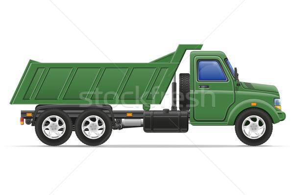 Carga caminhão transporte bens isolado branco Foto stock © konturvid