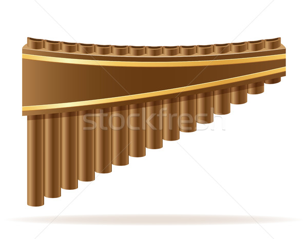 pan flute wind musical instruments stock vector illustration Stock photo © konturvid
