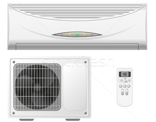 air conditioning split system vector illustration Stock photo © konturvid