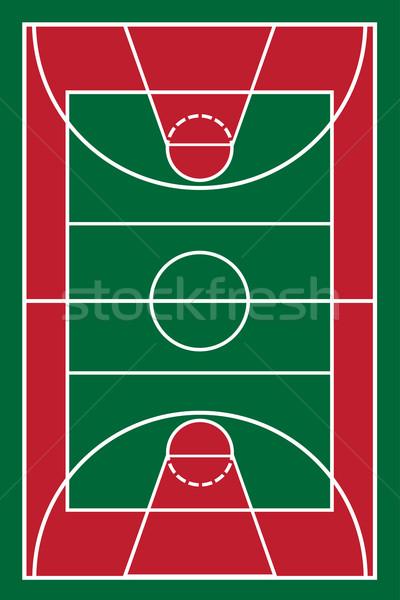 баскетбольная площадка фон оранжевый Перейти скорости полу Сток-фото © konturvid
