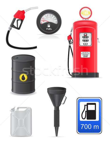 fuel set icons vector illustration Stock photo © konturvid