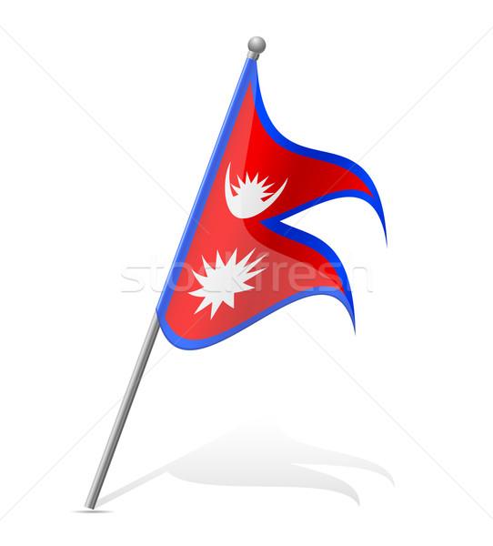 flag of Nepal vector illustration Stock photo © konturvid