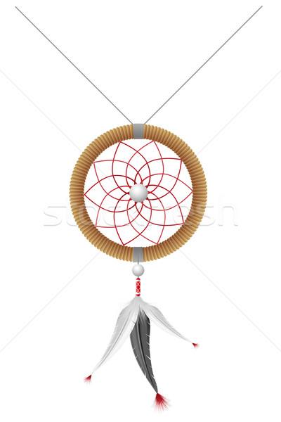 Amulett isoliert weiß Design Muster Stock foto © konturvid