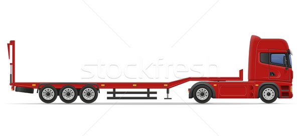 truck semi trailer for transportation of car vector illustration Stock photo © konturvid