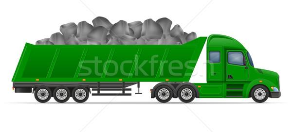 Caminhão entrega transporte construção materiais de construção isolado Foto stock © konturvid
