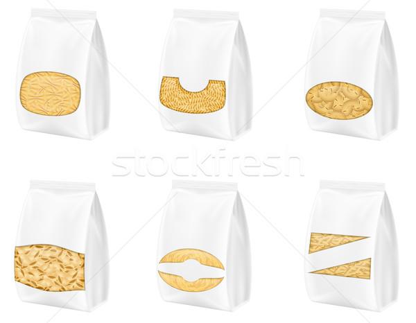 Pasta imballaggio isolato bianco alimentare finestra Foto d'archivio © konturvid