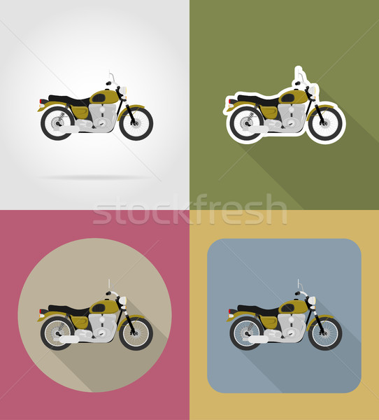 motorcycle flat icons vector illustration Stock photo © konturvid