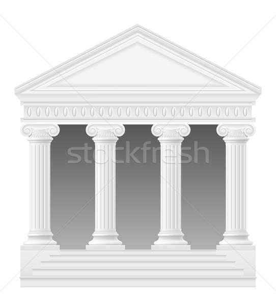 Antik ív stock izolált fehér épület Stock fotó © konturvid