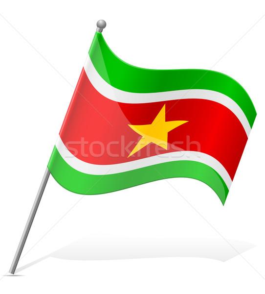 флаг Суринам изолированный белый мира Мир Сток-фото © konturvid