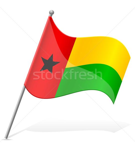 flag of Guinea-Bissau vector illustration Stock photo © konturvid