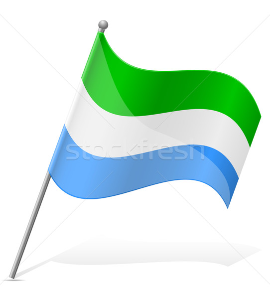 flag of Sierra Leone vector illustration Stock photo © konturvid