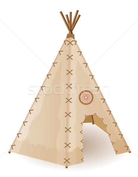 wigwam indians vector illustration Stock photo © konturvid