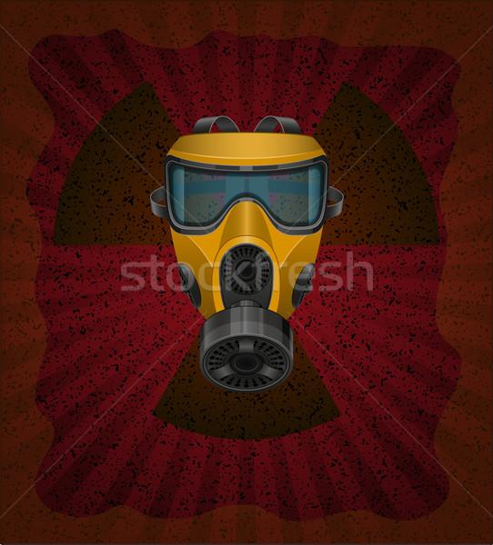 Radioaktív izolált fehér füst ipar maszk Stock fotó © konturvid