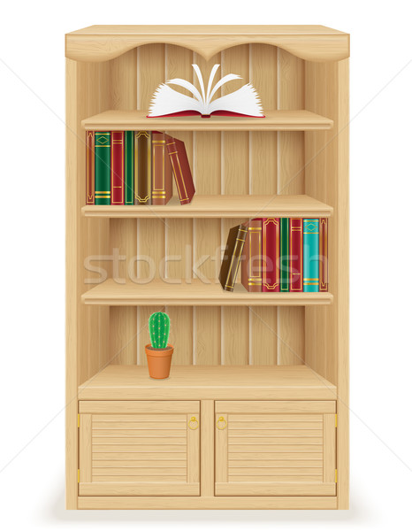 bookcase furniture made of wood vector illustration Stock photo © konturvid