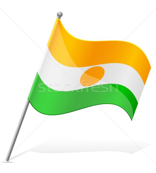 Bandeira Níger isolado branco globo mundo Foto stock © konturvid