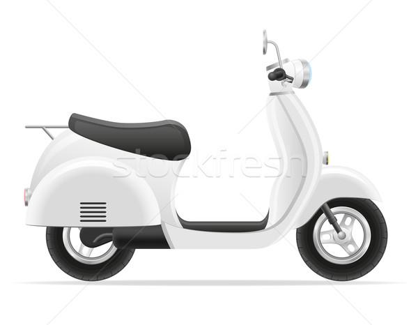 retro scooter vector illustration Stock photo © konturvid
