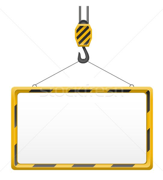 hook crane for building and blank template board vector illustra Stock photo © konturvid