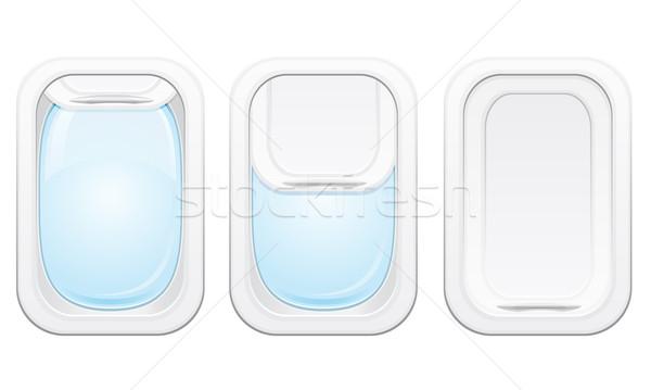 Stock photo: plane porthole vector illustration