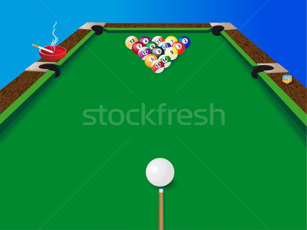 Billard Billard Tabelle Pool Ball Farben Stock foto © konturvid
