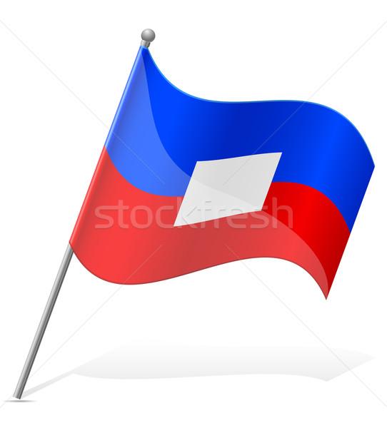Bandiera Haiti isolato bianco mondo mondo Foto d'archivio © konturvid