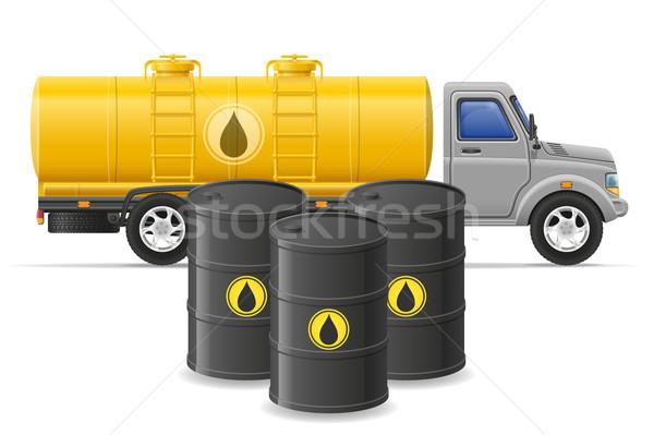 Teher teherautó házhozszállítás közlekedés üzemanyag szállítás Stock fotó © konturvid