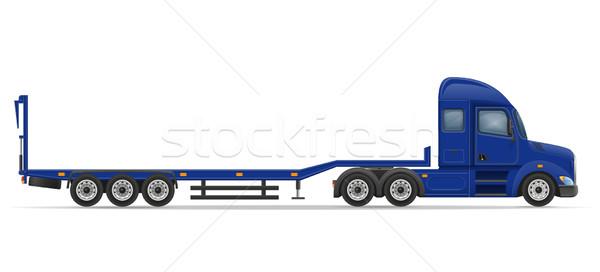 truck semi trailer for transportation of car vector illustration Stock photo © konturvid