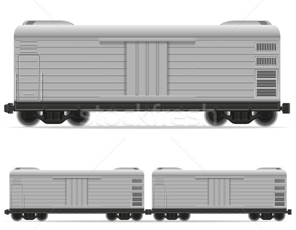 鉄道 キャリッジ 列車 孤立した 白 道路 ストックフォト © konturvid