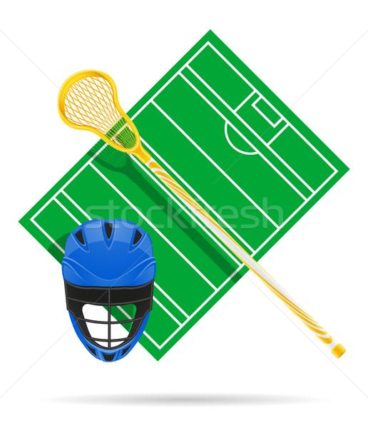 lacrosse field vector illustration Stock photo © konturvid