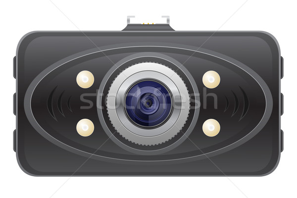 car recorder front view vector illustration Stock photo © konturvid