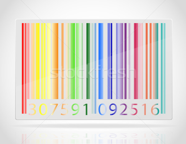 multicolored barcode vector illustration Stock photo © konturvid