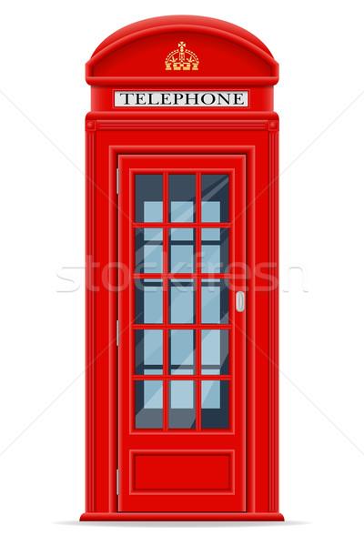 Londen Rood telefoon kraam geïsoleerd witte Stockfoto © konturvid