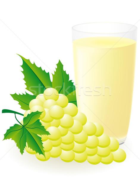 Stockfoto: Witte · druivensap · geïsoleerd · water · zomer · drinken