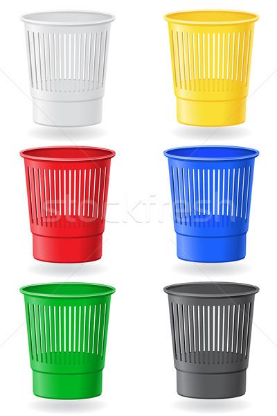 dustbin colors vector illustration Stock photo © konturvid