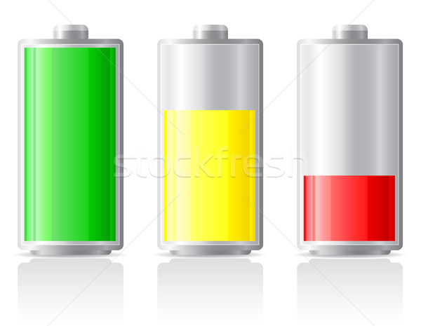 icons charge battery vector illustration Stock photo © konturvid