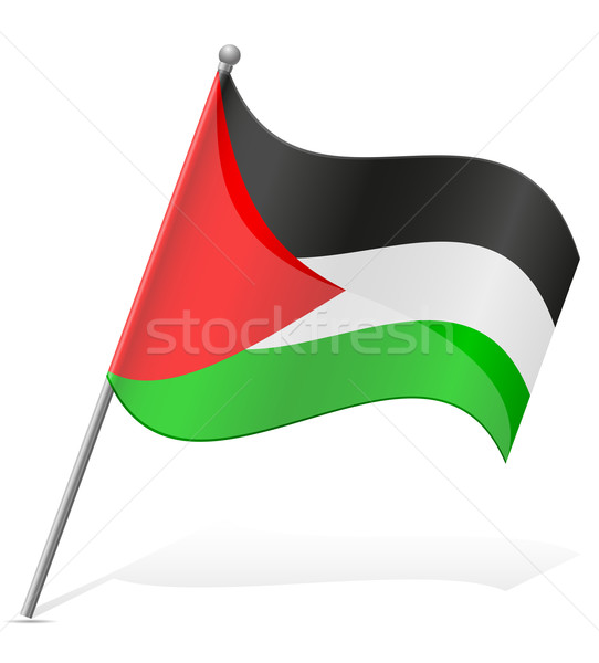 flag of Palestine vector illustration Stock photo © konturvid