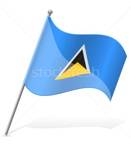 флаг святой изолированный белый мира Мир Сток-фото © konturvid
